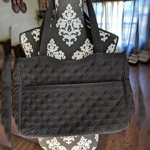 Vera Bradley Classic Black Diamond Quilted Handbag